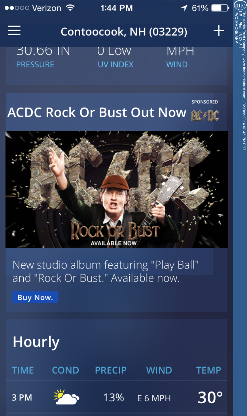 The Weather Channel gets Thunderstruck with AC/DC Campaign