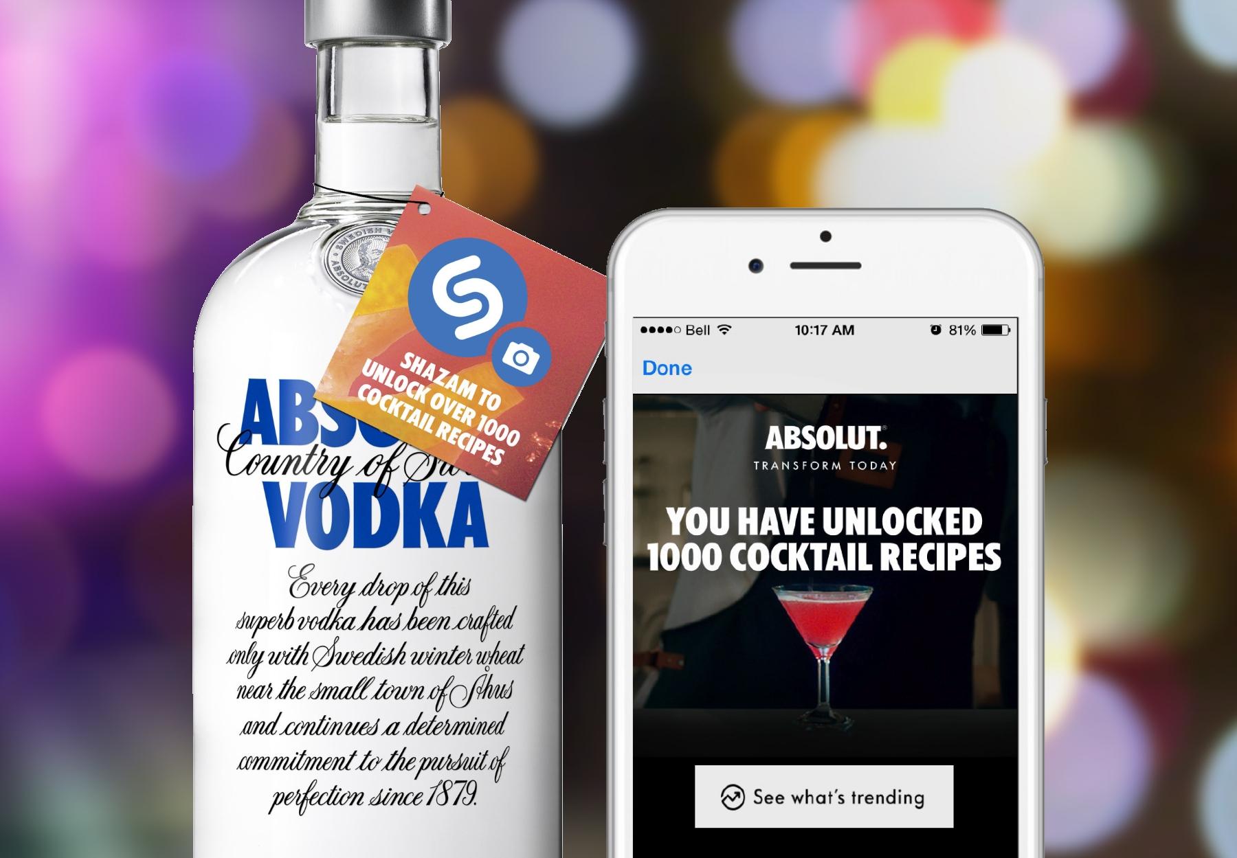Absolut Vodka Bottles Go Shazamable in Canada