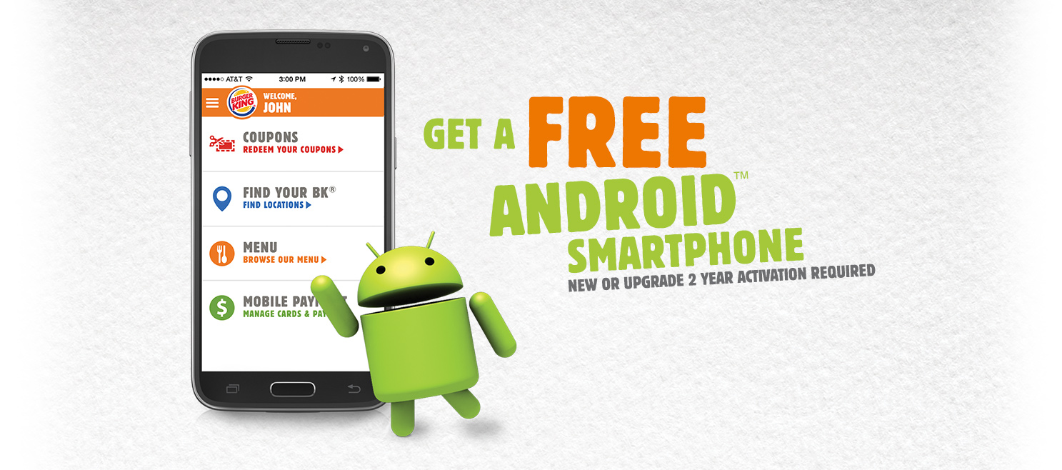 Burger King Promotes Android App with Free Phones