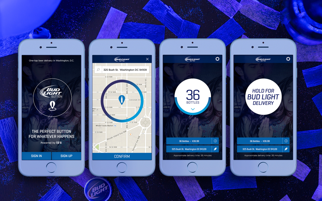 App Enables Bud Light Drinkers to Order Beer with Tap of a Button