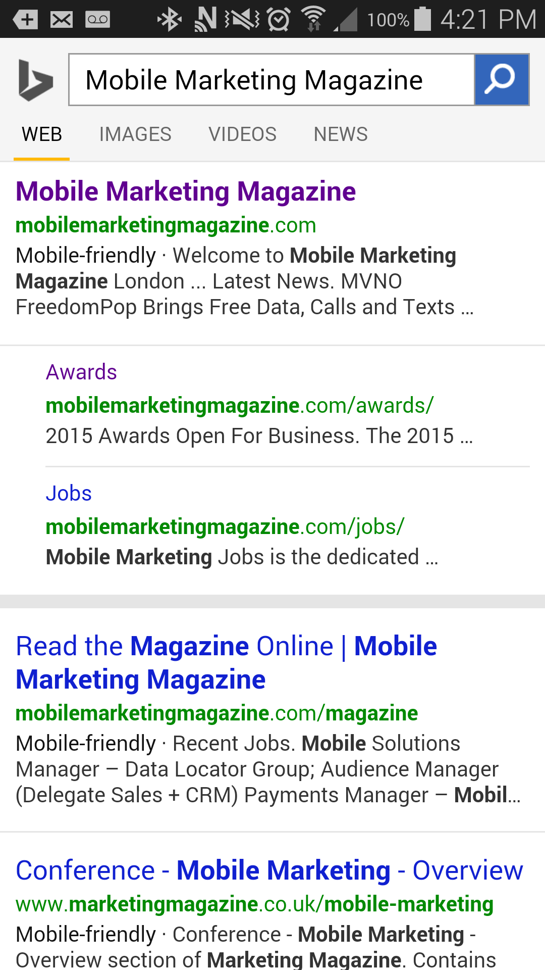 Bing to Reward Mobile-friendly Sites in Search Results