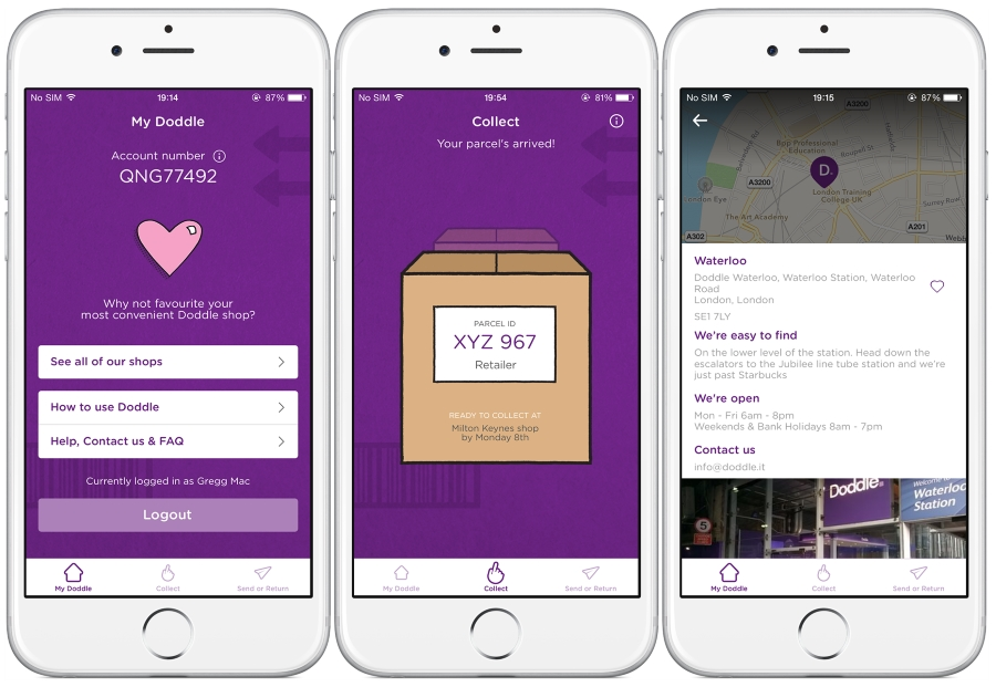 Doodle Launches App for 'Click and Collect' Parcel Service