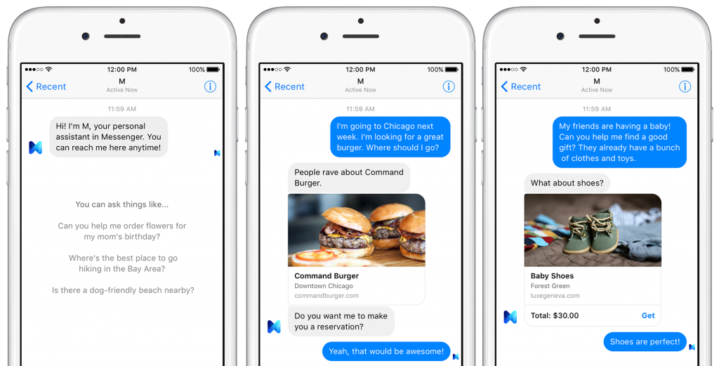 Facebook Launches M, Messenger's Answer to Siri
