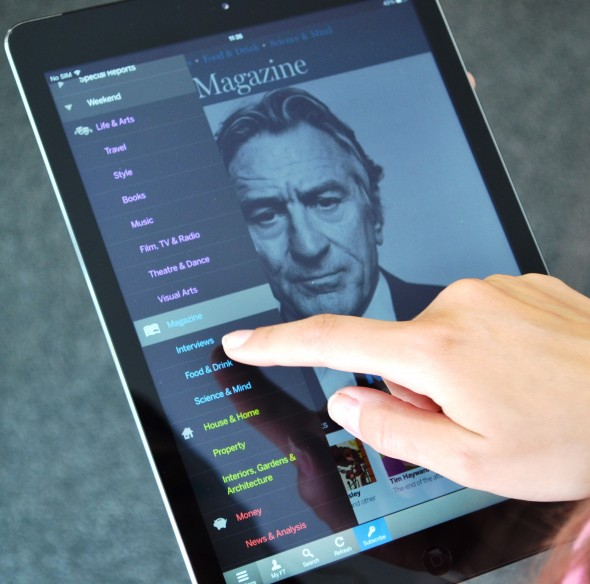 FT Weekend App Targets Paper's Growing Lifestyle Audience