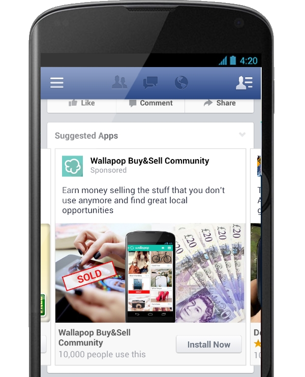 Facebook Trials its Own Mobile Ad Network