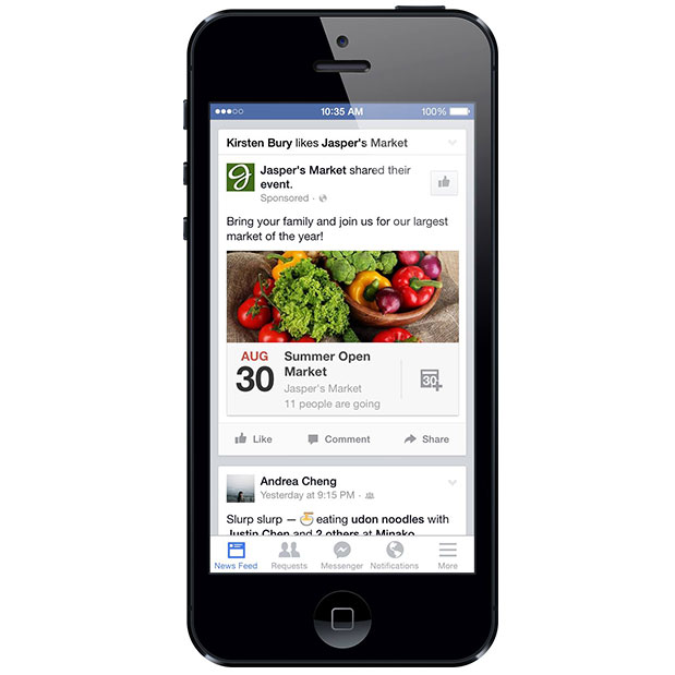 Facebook Rolls Out Event Ads for Local Sales