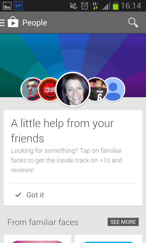 Navigate Google Play with Help from Your Friends