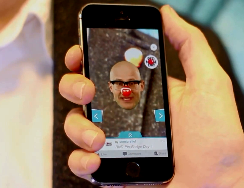 Red Nose Day Badges Get Augmented with Harry Hill and Taggar