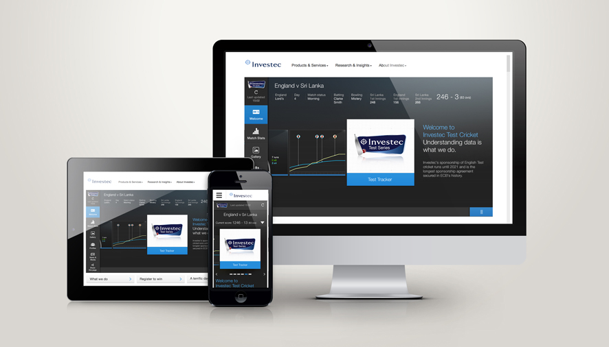Investec Launches HTML5 Test Tracker Web App