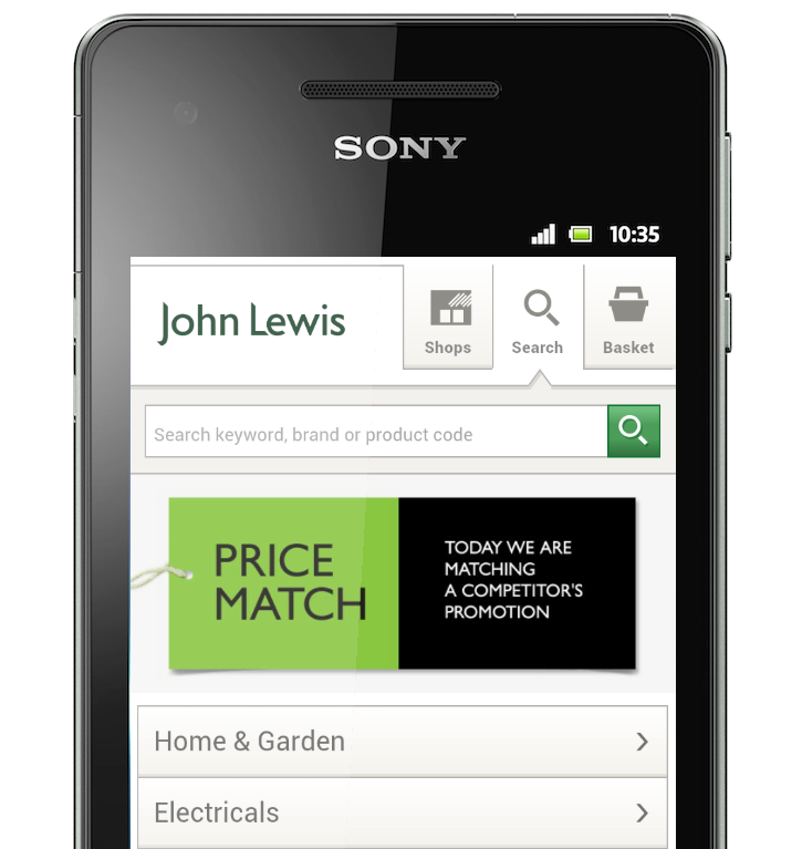 John Lewis: Three Quarters of Traffic on Christmas Day from Mobile