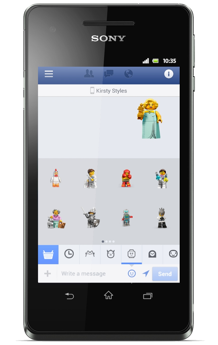 Facebook Launches Lego Stickers