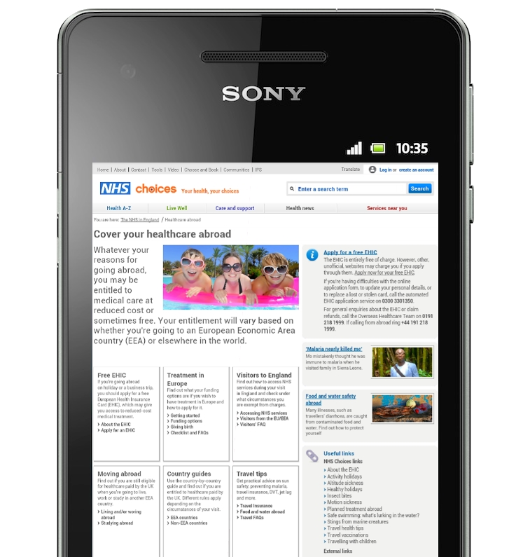 Non-optimised NHS Site Sees 20 Per Cent Drop in Mobile Users