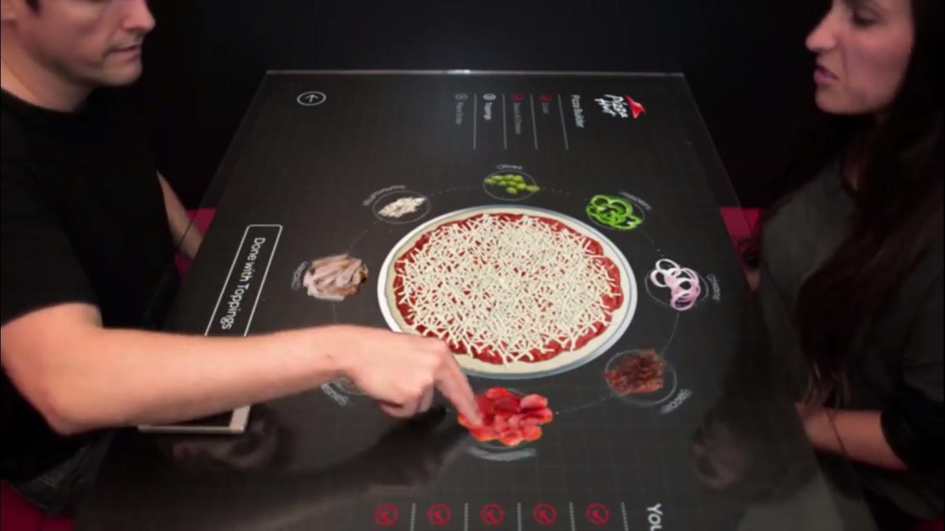 Pizza Hut Presents Interactive Touchscreen Table Concept