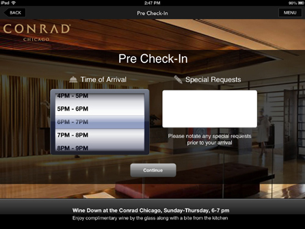 Conrad Hotels Introduces Comprehensive Pre Check-In Through App