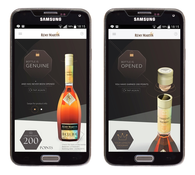 Rémy Martin Embraces Spirit of Mobile with NFC Bottles