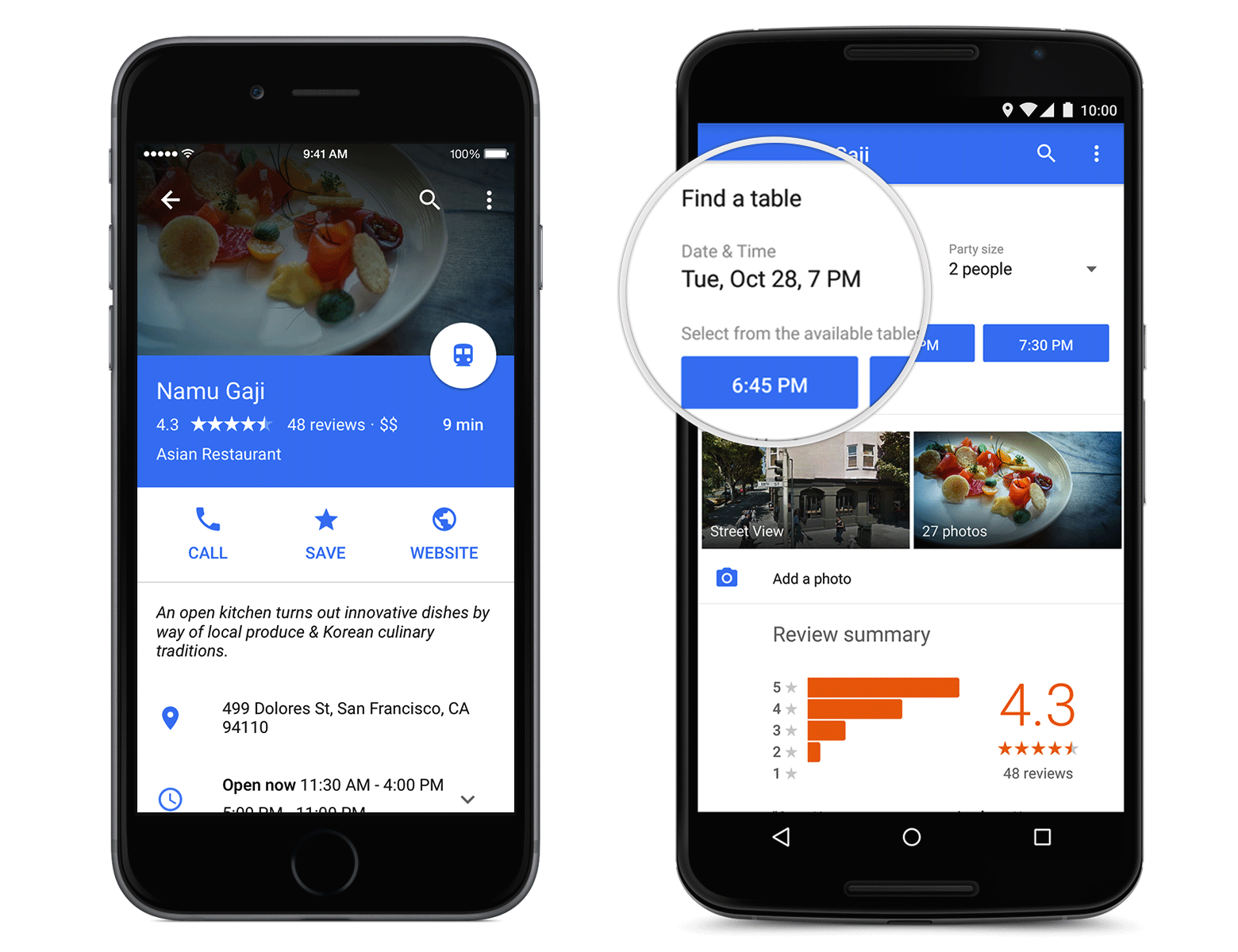 Redesigned Google Maps App Adds Restaurant Reservations
