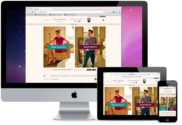 Ted Baker Launches Responsive eCommerce Site
