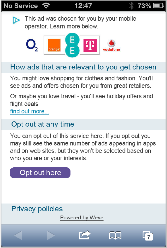 Weve Launches Persistent Opt-Out Option Using AdChoices