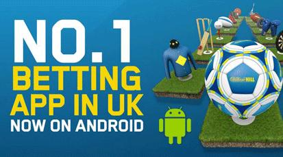 William Hill Launches Android Sportsbook App
