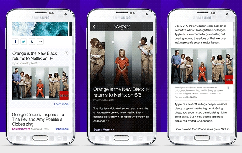 Yahoo Introduces Mobile-first Native Ads