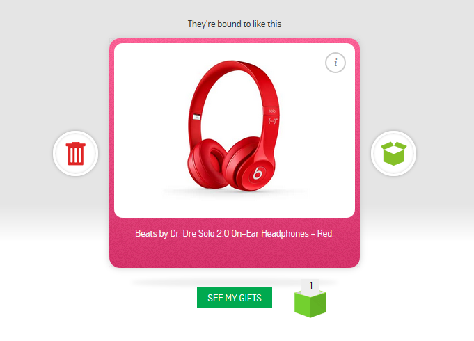 Argos Launches Gift Finder with Swipe-to-Like Interface