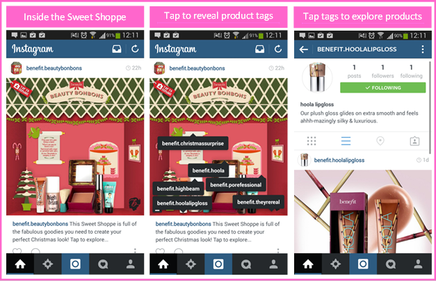Benefit Brings Chrismas Sweet Shoppe to Life on Instagram
