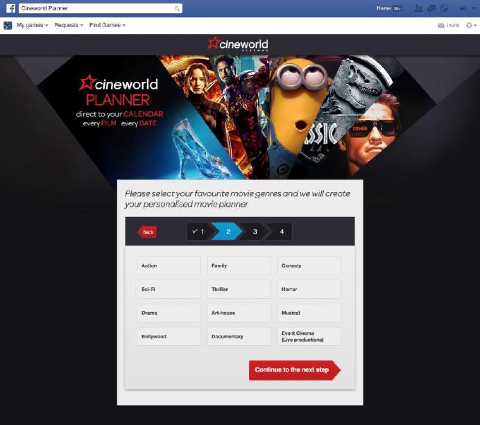 Cineworld Unveils Personalised Movie Planner