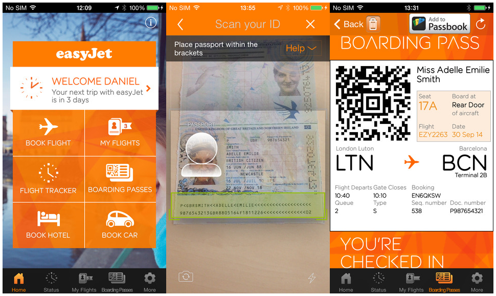 EasyJet Adds Passport Scanning to iOS and Android Apps