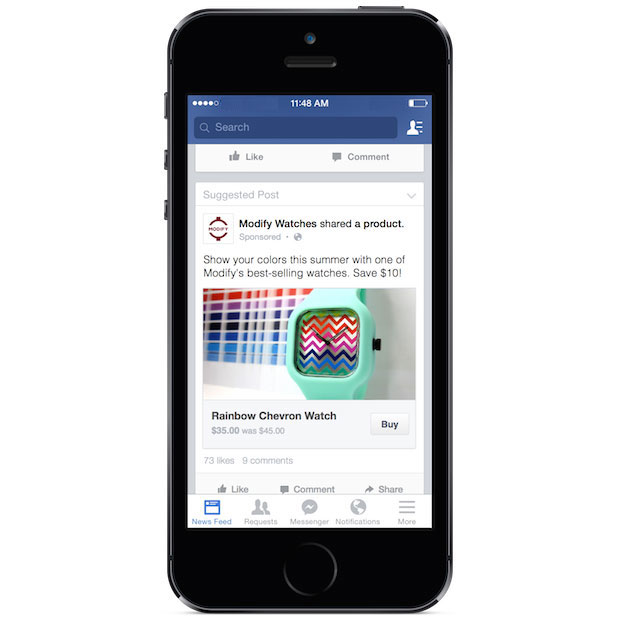 Facebook Trials 'Buy Button' Letting You Purchase Without Leaving Site