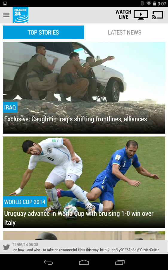 France 24 News Channel Unveils New Version of App