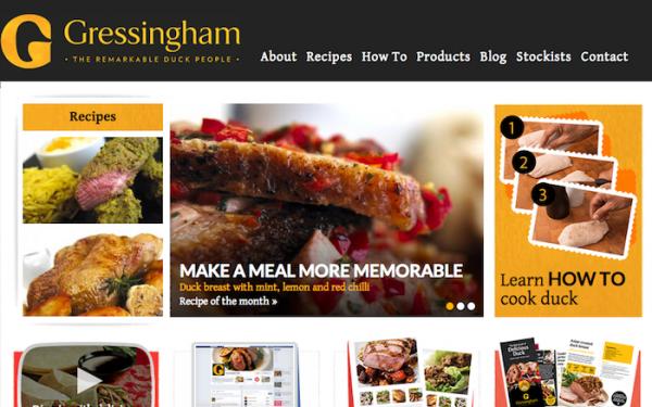 Gressingham Duck Launches Responsive Website