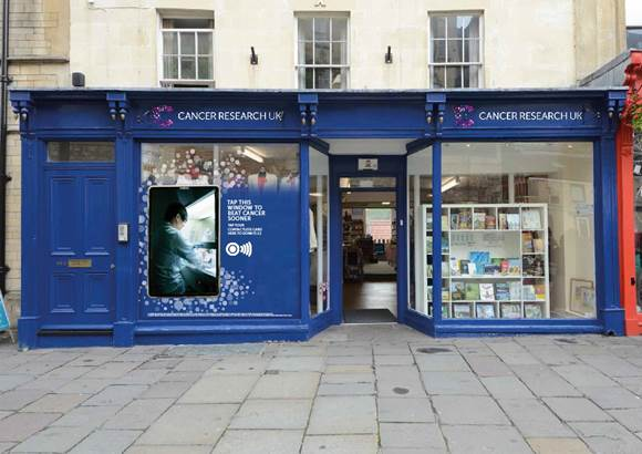 Cancer Research UK Creates Contactless Giving Shop Windows