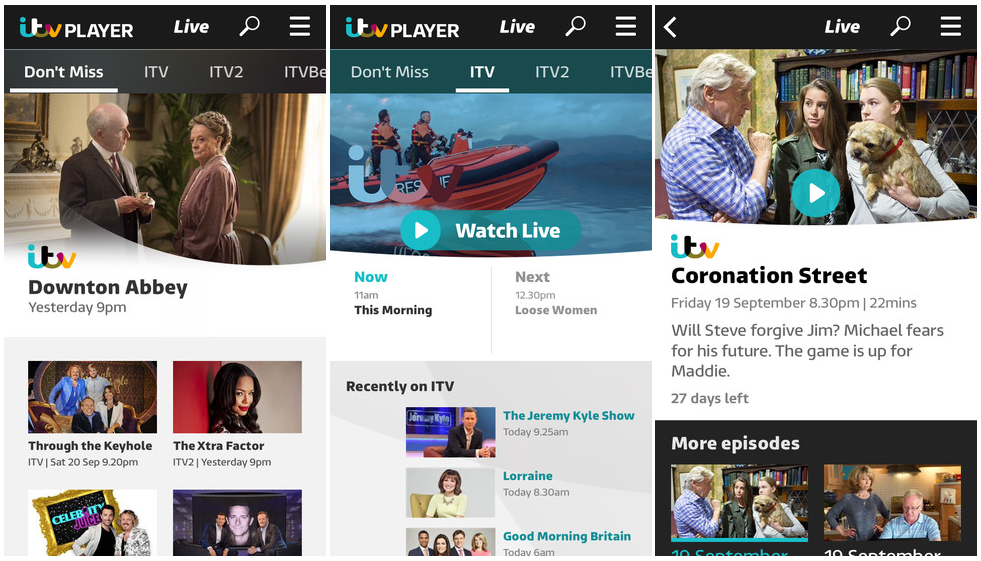 ITV Relaunches Player App Across All Platforms