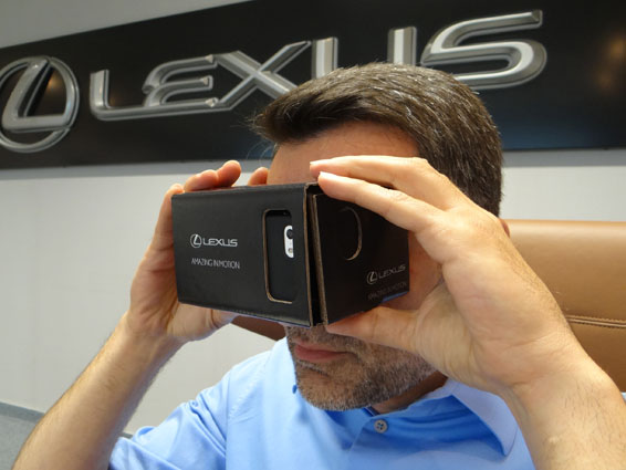 Lexus Brings Test Drives Home with Virtual Reality