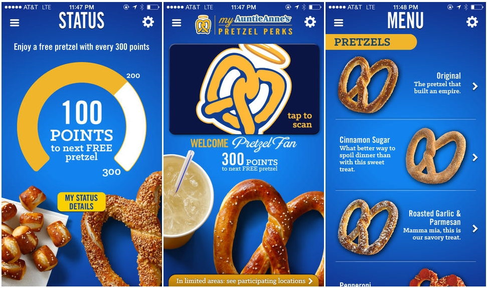 Auntie Anne's Launches Mobile Loyalty App