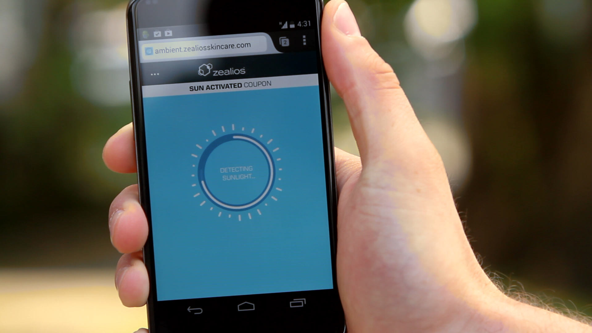 Zealios Creates Sunlight-Activated Digital Coupon to Promote Sunscreen