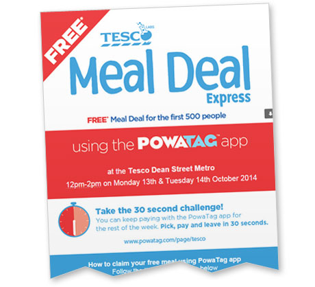 Tesco Tests Mobile Payments with the Lunchtime Rush