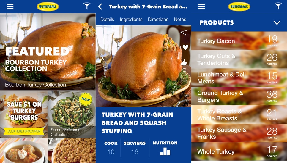 Butterball Relaunches Cookbook App for Thanksgiving