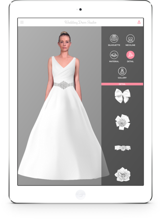 AR iPad App Enables Brides to Design and Try on Wedding Dresses