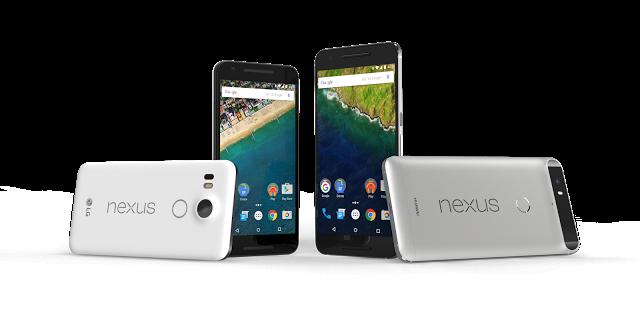 Nexus handsets Sep 2015