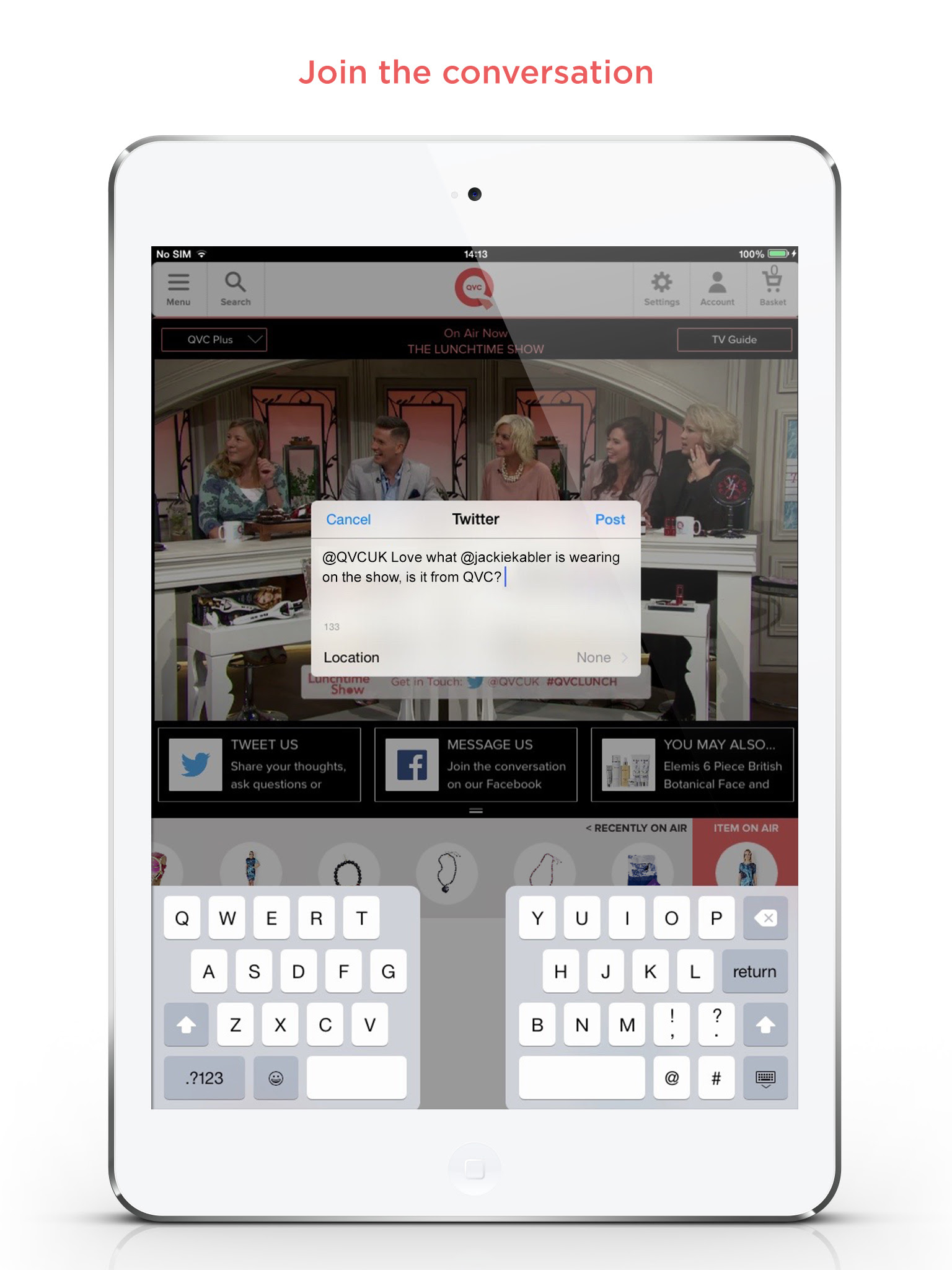 QVC Updates iPad App for Second Screening Interactivity