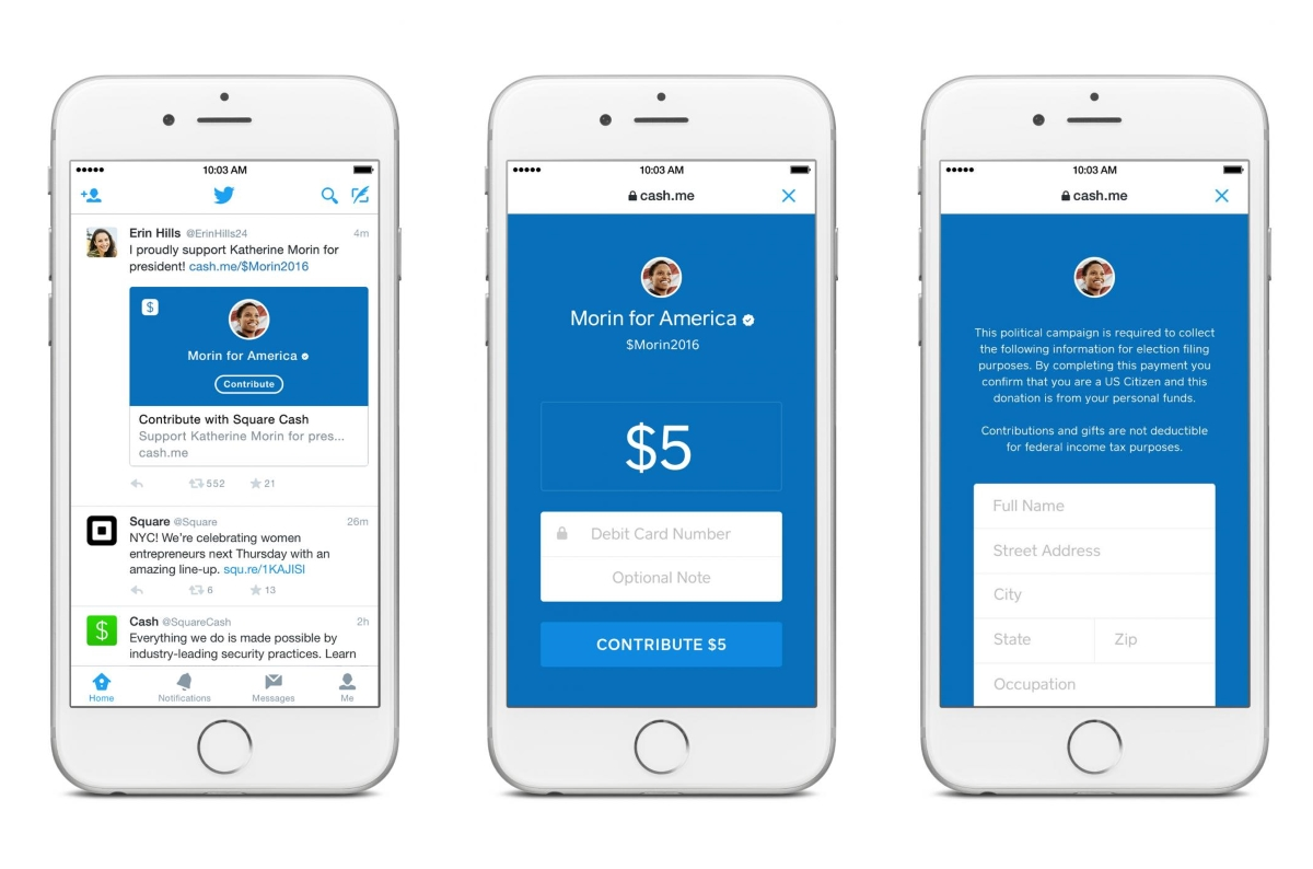 Twitter and Square Partner for Political Donation Tweets | Mobile
