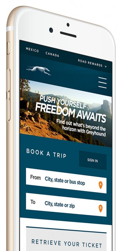 Greyhound Mobile Site