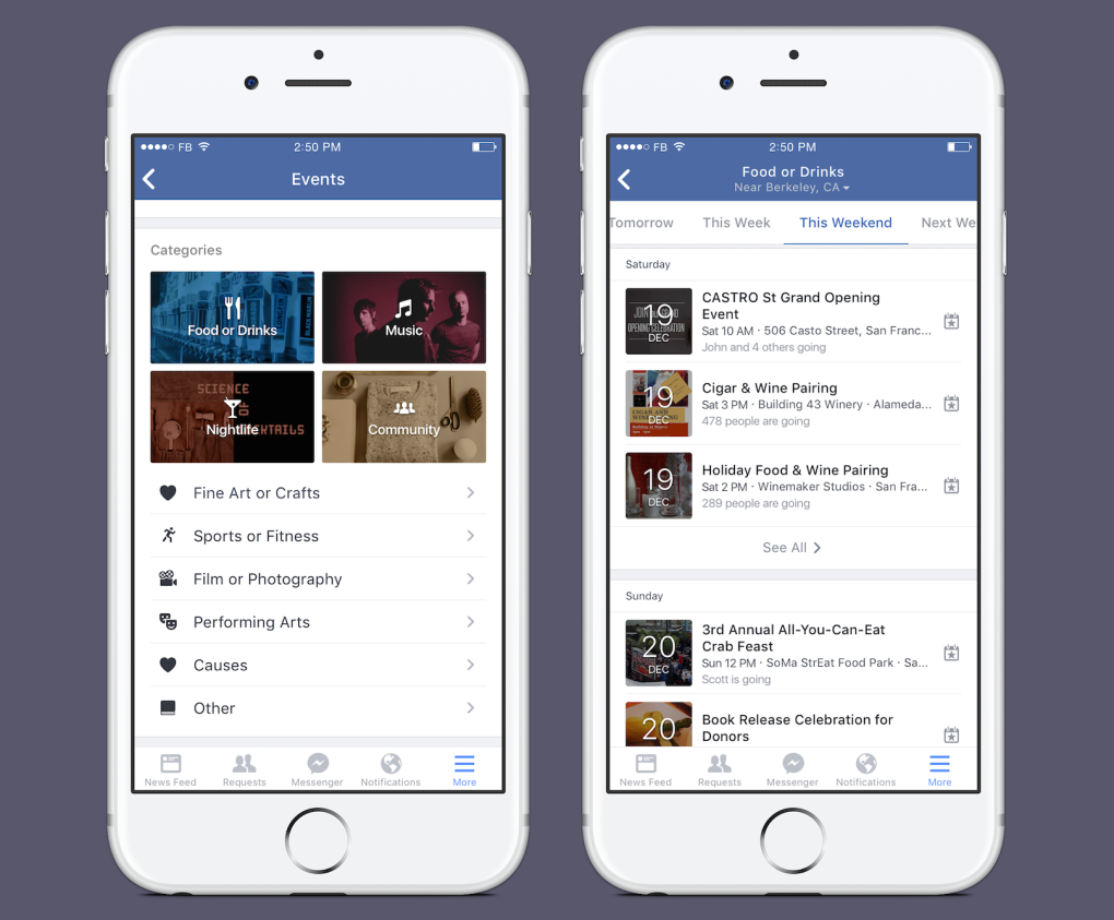 Facebook Will Now Tell You Where to Party Tonight