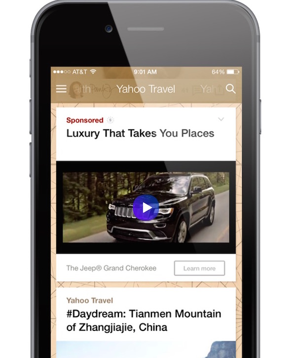 Jeep Crosses Over to Native Video with Yahoo's Help