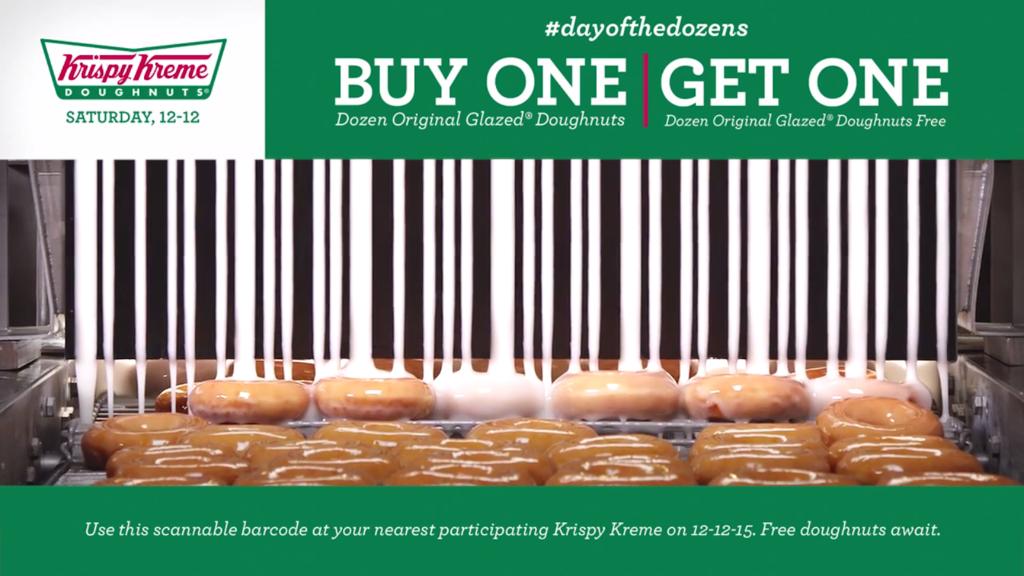Krispy Kreme Pipes Out an Edible Mobile Barcode