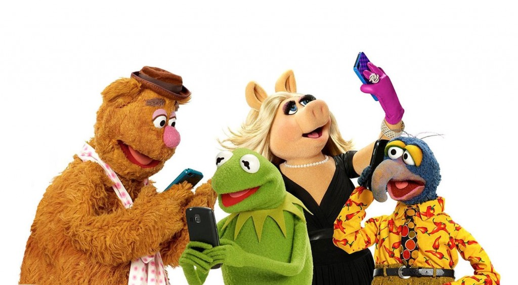 muppets on phones