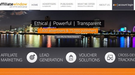 Affiliate Window website screenshot