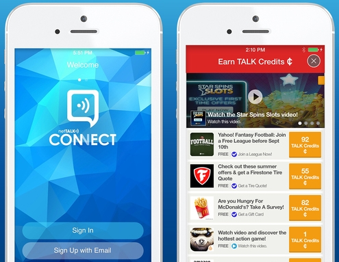 Nettalk and Tapjoy Offer Free Calls for Engaging with Ads