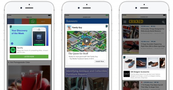 Facebook Audience Network Mobile Web